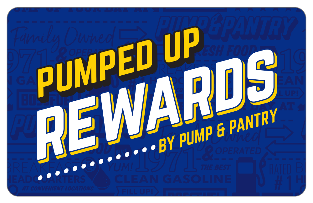 Pumped Up Rewards Card